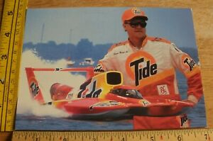 1993 Power Boat Racing Tide George Woods Jr. Hydroplane racing signature card