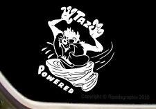 "Taz Tornado ""Taz Powered"" Cartoon Decal-Sticker CT-7"