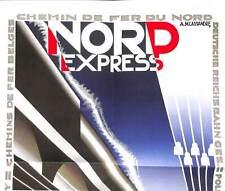 Vintage Nord Express Railway VTARP066 Art Print A4 A3 A2 A1