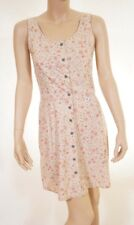 Calvin Klein Jeans Womens Beige Stone Floral Sleeveless Button Down Tank Dress 6