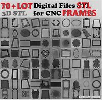 70+ pcs. Frames LOT 3D  Model STL relief for cnc Photo Mirror Picture Frames
