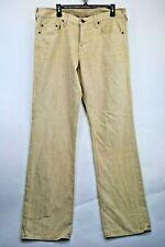 True Religion Mens Loomed Tan Denim Jeans Tag(34) Measures(37x34) (D3) EUC