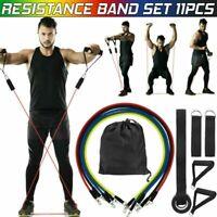 11 PCS Resistance Band Set Yoga Pilates Abs Exercise Fitness Tube Workout Band Z