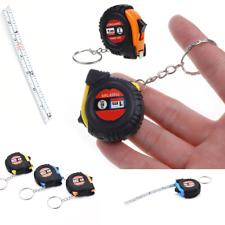 """Metric 1m/3.28Ft/39"""" Pocket Size Mini Retractable Ruler Tape Measure Key Chain H"""