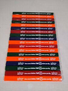 Lot of 18 Flat Carpenter's Pencils Black Lead ~ Advertising Dig Safe NY Logo/811