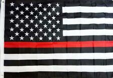3x5 Foot Thin Red Line USA Polyester Flag great Color Honoring Firefighter Flag