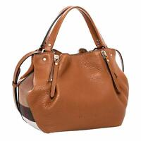 Burberry Maidstone Tote Small Shoulder Bag Brown Leather New