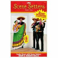 Fiesta Mexican Party Supplies Scene Setters Decorations 2 Pieces 150cm Tall