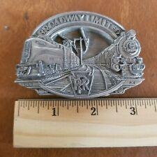 1987 Broadway Limited Prr Railroad Brass Belt Buckle
