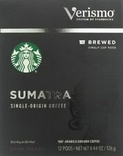 Starbucks Sumatra Brewed Coffee Verismo 72 Pods BB 01/2020