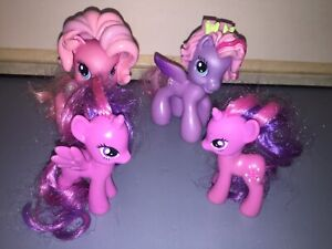 Orginal My Little Pony G4 Pinky Pie, Starsong And Two Sparkle Mini By Hasbro
