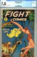 Fight  #68- CGC 7.0-FINE/ VERY FINE- JACK KAMEN ARTWK- 1950 TIGER GIRL CVR