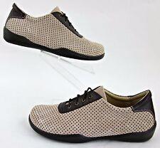 Footprints By Birkenstock Womens Oxfords Tan Perfed Leather Sz EU 40 / US 9