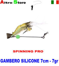 GAMBERETTO ARTIFICIALE PESCA BOLOGNESE SPINNING SURFCASTING MARE BARCA TRAINA