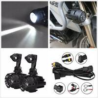 2 Pcs Motorcycle Bike LED Head Fog Driving Light 40W For BMW R1200GS/ADV F800GS
