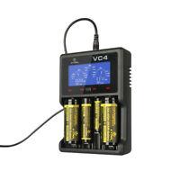 XTAR VC4 LCD SCREEN USB Li-ion AKKU LADEGERÄT AA AAA C D 32620 18650 14500 16340