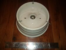 "Large Vintage Industrial Art Deco Porcelain Keyless Fixture 6"" Fitter Paulding"