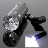 Portable Mini Aluminum 9 LED Bright Camping Hiking Flashlight Torch Light Lamp