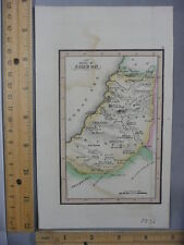 Rare Antique Orig VTG 1836 Leavitt Lord & Co Tribe Of Simeon Map Engraved Print