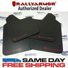 RALLY ARMOR Basic Universal Mud Flaps w/red logo MF12-BAS-RD