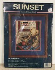 Sunset Old Teddies Counted Cross Stitch Kit Teddy Bear 13653