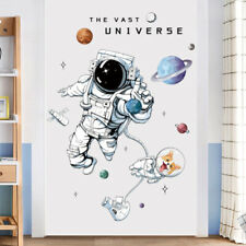 Creative Planets Astronaut Wall Sticker Kids Room Decoration Self-adhesi'