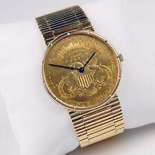 1904 $20 Liberty Gold Coin Ref. 8692 18 kt Gold Bracelet Wristwatch #9691