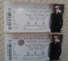 George Michael Symphonica Tickets x 2 - Last Ever UK Show - Earls Court London