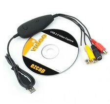 Ezcap USB Video Audio Capture Recorder VHS to DVD Maker Converter Adapter Win10