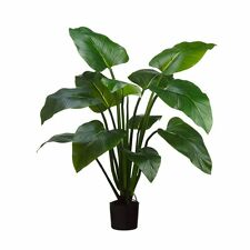 "48"" ARTIFICIAL TROPICAL UV PLANT OUTDOOR PALM TREE TOPIARY EVA CURCUMA YUCCA POT"