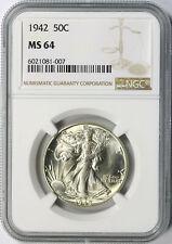 1942 50c Walking Liberty Half Dollar NGC MS64