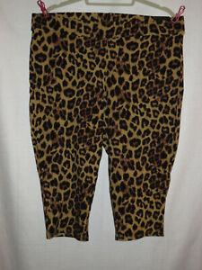Torrid leopard print pedal pusher leggings, Plus size 3X(22-24)