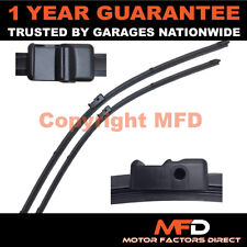"""DIRECT FIT FRONT AERO WIPER BLADES PAIR 22"""" + 16"""" FOR ALFA ROMEO 147 2005 ON"""