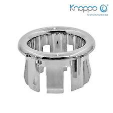 2er Set Waschbecken Überlaufblenden / Überlauf Design Abdeckung - Ring (chrom)