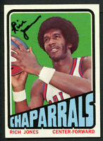 Rich Jones #199 signed autograph auto 1972-73 Topps Basketball Trading Card