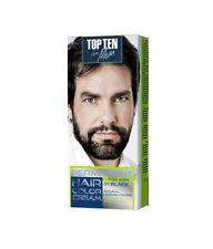 MEN COLOUR CREAM PERMANENT for BEARD & MOUSTACHE -Grey Hair Cover-up Dye 10 Min.