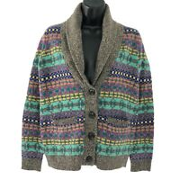 Wallace By Madewell Color Track Cardigan Sweater Merino Wool Women's Size XS