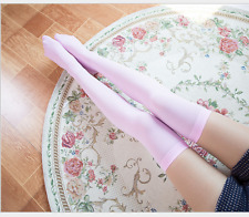 Girls Ladies Women Thigh High OVER KNEE Socks Candy Color Long Cotton Stockings