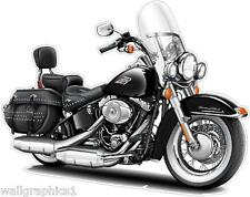 Harley Davidson Heritage Softail Wall Graphic Decal Cartoon Turbo Fire