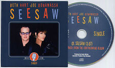 BETH HART & JOE BONAMASSA See Saw 2013 UK 1-trk promo CD