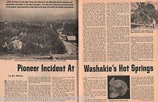 Washakie Hot Springs Pioneer Incident