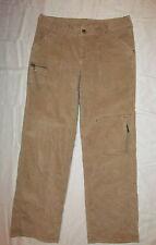 ATHLETA tan khaki velvet  cordiroy boot cut  cargo carpenter jeans / pants 10