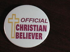 """CHRISTIAN/RELIGIOUS-""""CHRISTIAN BELIEVER"""" PINBACK BUTTONS"""