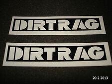 2 AUTHENTIC DIRTRAG MAGAZINE BLACK & WHITE STICKERS #9 / DECALS / DIRT RAG