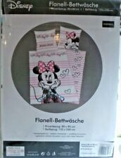 Disneys Minnie Mouse Flanell Bettwäsche 80x80 135x200 100% Baumwolle NEU Herding