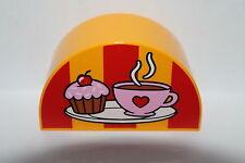 LEGO DUPLO Baustein Motivstein Cupcake Tasse orange 2x4 Noppen NEU