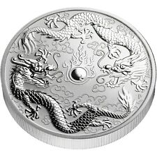 Australien 1 Dollar 2019 Drache und Drache 1 Oz Silber Double Dragon