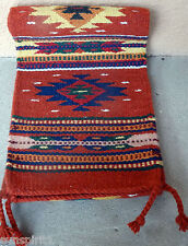 Southwestern Table Runner 37-10X80 Hand Woven Southwest Wool Geometric Design