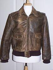 Vintage INDIANA JONES Leather Bomber / Flight Jacket A-2  BROWN  Sz 40  USA