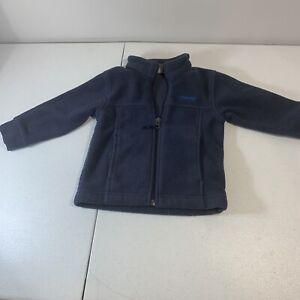 Toddler's Fleece Columbia Jacket, Navy Blue, Size 12-18 Months.